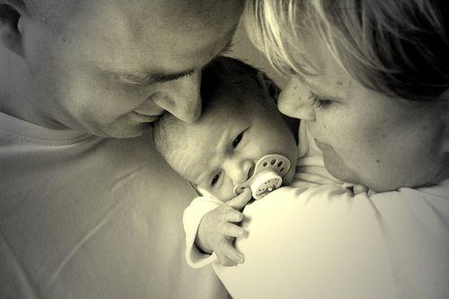 Marius Keno mit Mama und Papa